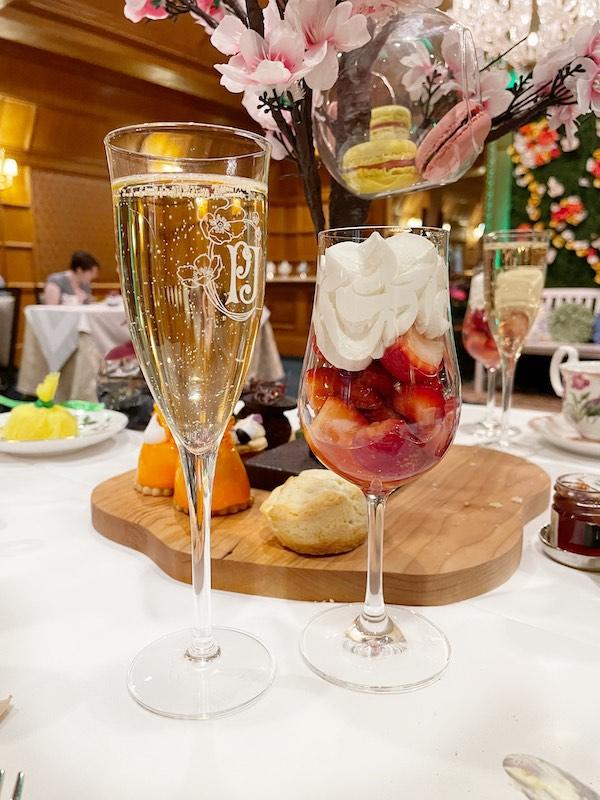 strawberries chantilly at afternoon tea at The Ritz-Carlton Atlanta
