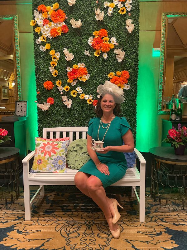 Angela Renals at afternoon tea at The Ritz-Carlton Atlanta