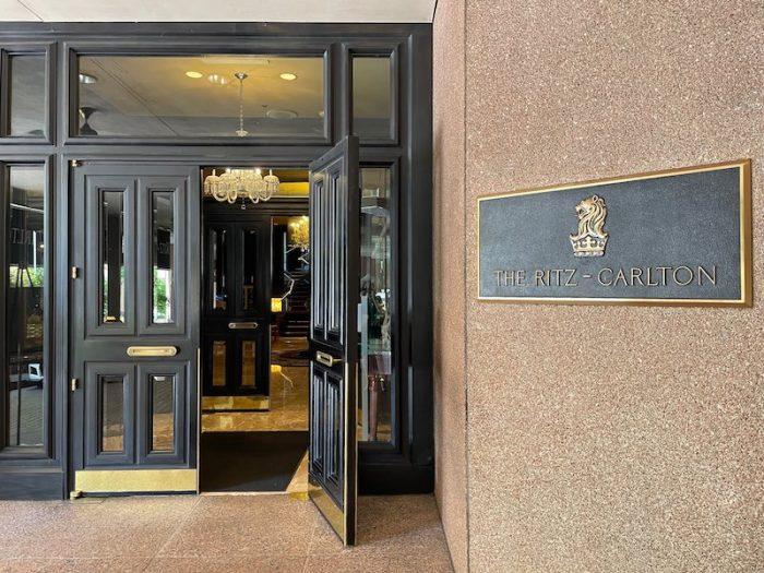 walking into afternoon tea at The Ritz-Carlton Atlanta