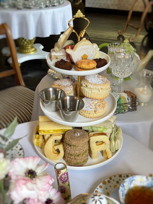 3-tiered tray at afternoon tea at The Ginger Room in Alpharetta, Georgia