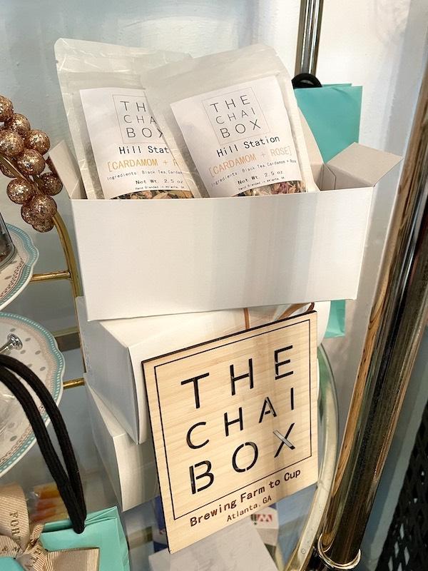 Atlanta made The Chai Box at afternoon tea at The Ginger Room in Alpharetta, Georgia