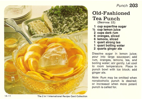 old-fashioned tea punch recipe