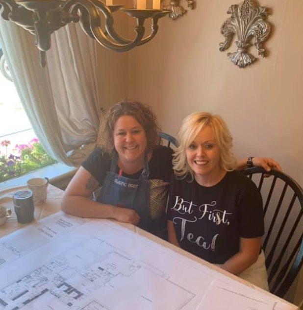 sisters at Rustic Root Tea Room in Beach Grove, Indiana