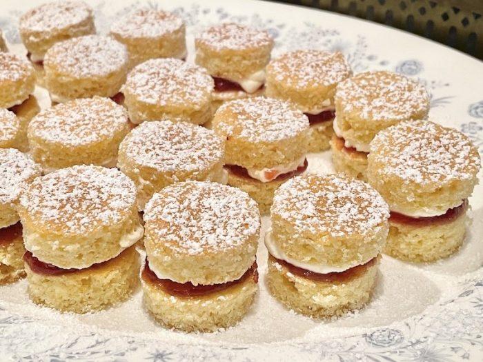 Mini Victoria Sponge Cakes completed