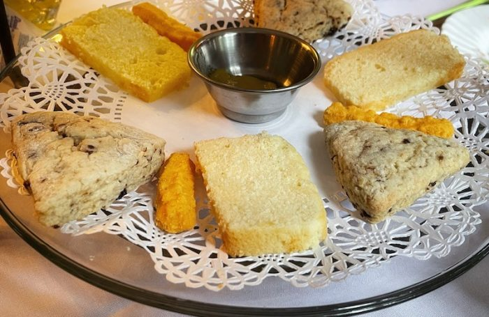 scones at afternoon tea at Chelsea's on Thornton in Dalton, GA
