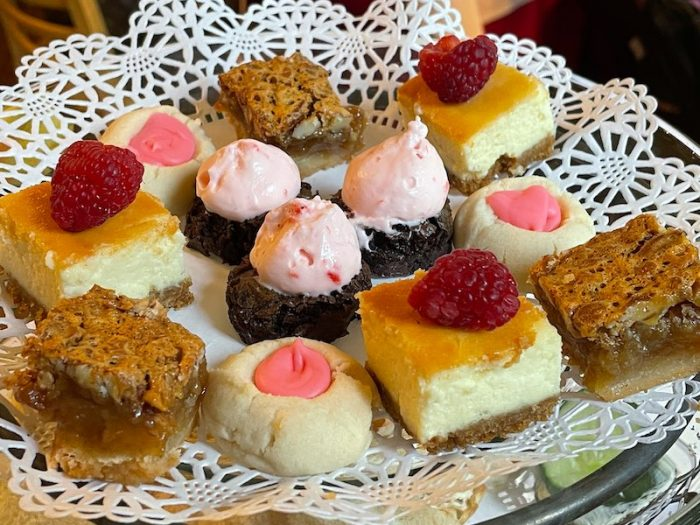yummy desserts at afternoon tea at Chelsea's on Thornton in Dalton, GA