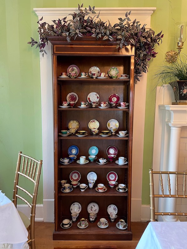 mini teacup collection at at afternoon tea at Chelsea's on Thornton in Dalton, GA