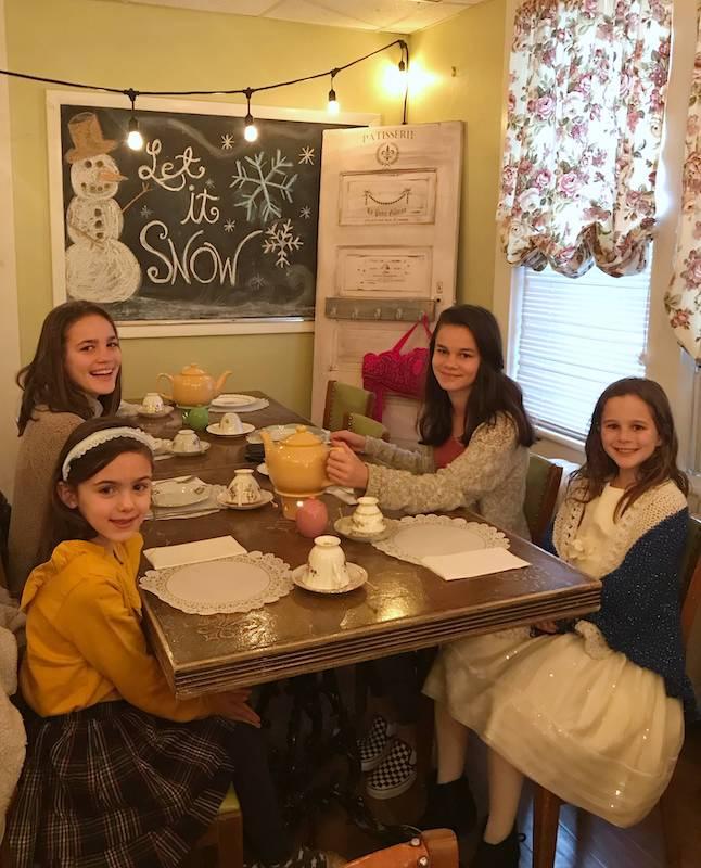 cousins at afternoon tea