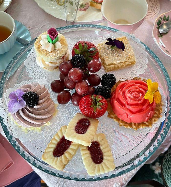 Dessert course at afternoon tea at Stillwater Tea House in Suffolk, VA