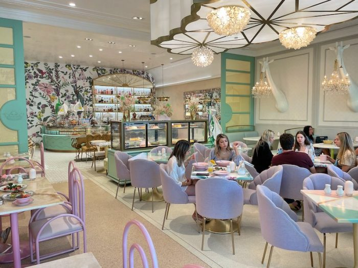 wonderland interior design at Pani in Aventura Mall, Florida