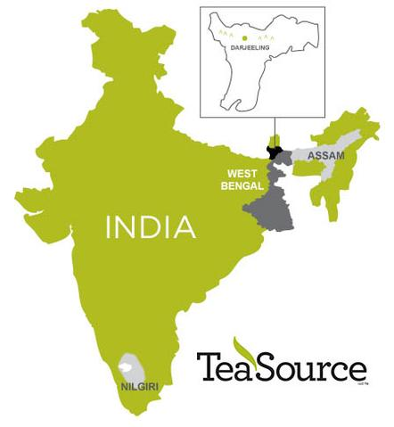 darjeeling India on a map