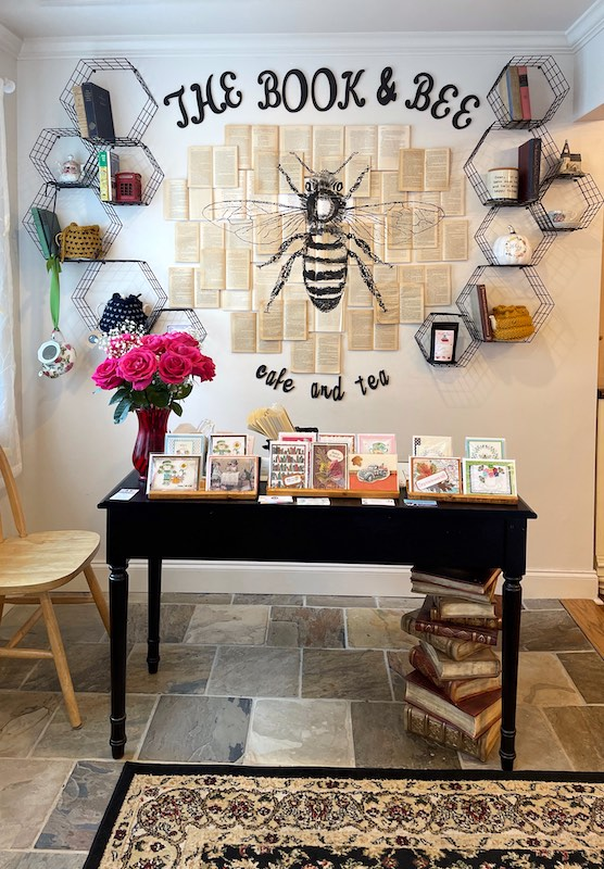 welcome to afternoon tea at The Book & Bee Cafe & Tea in Hendersonville