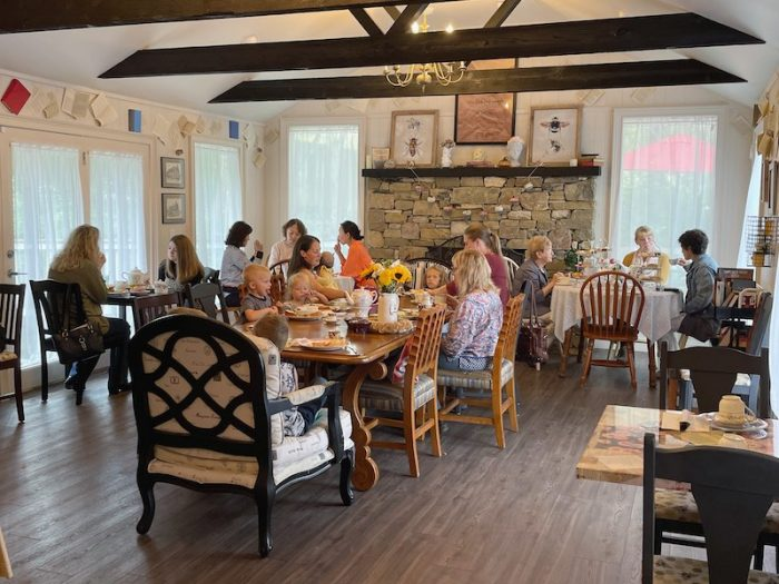 The Stratford Room at The Book & Bee Cafe & Tea in Hendersonville