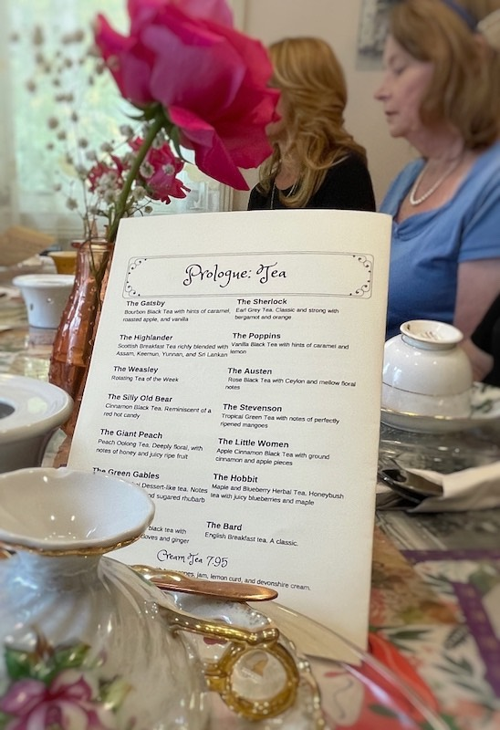 teas at afternoon tea at The Book & Bee Cafe & Tea in Hendersonville