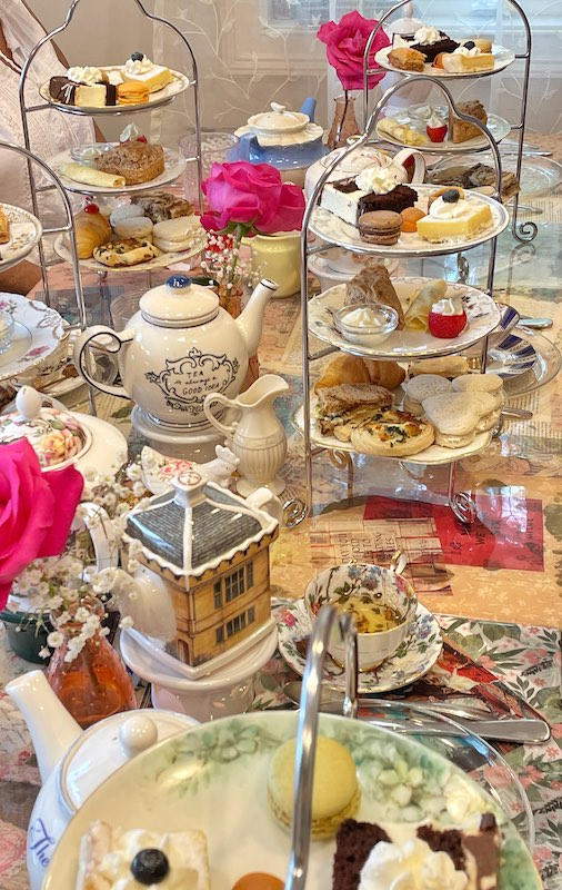afternoon tea at The Book & Bee Cafe & Tea in Hendersonville